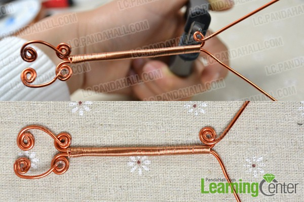 make patterns at the other wire end