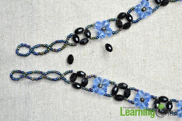connect 2 beaded bracelets