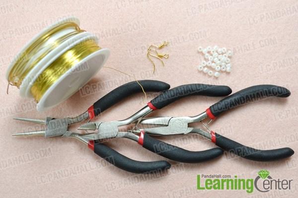Materials needed in making your own teardrop hoop earrings