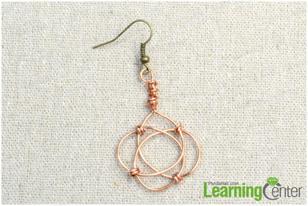 hang the celtic knot dangles to the earring hooks