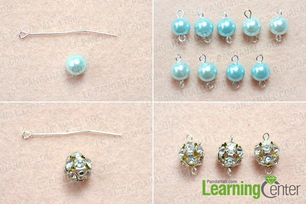 Make bead-link chain for the long fashion necklace
