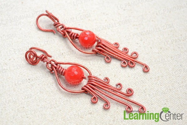 The red chandelier earrings look like this: