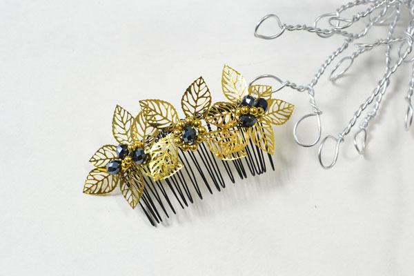 Here is the finished DIY hair comb