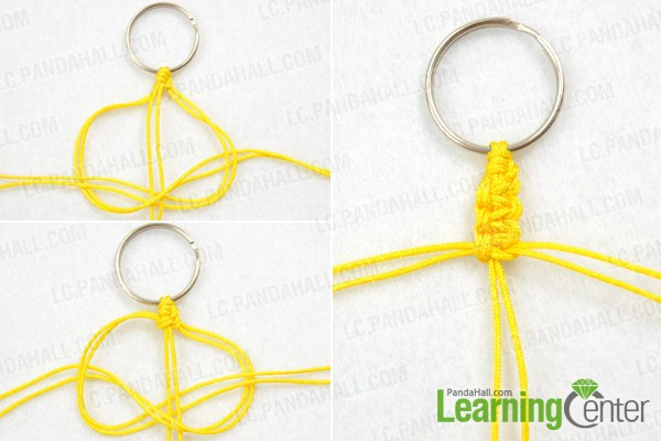 Make basic macrame keychain pattern