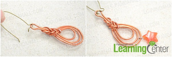 Step 2: Finish the Pipa knot earrings
