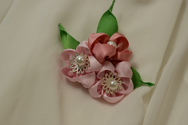 How to make a pink ribbon flower brooch for girls pandahall now this pink ribbon flower brooch is finished mightylinksfo