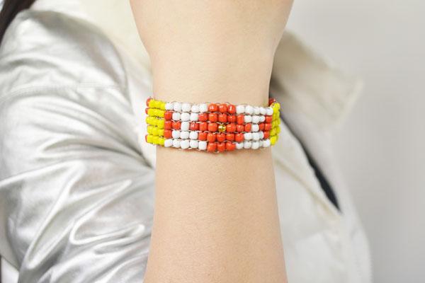 the wide stitch beading bracelet