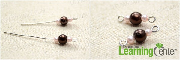 make the beaded connector with eyepin
