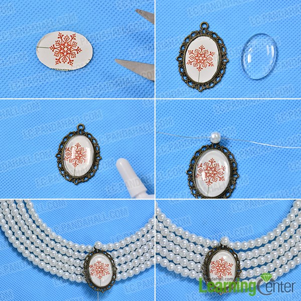 Add the personalized Tibetan style cabochon setting