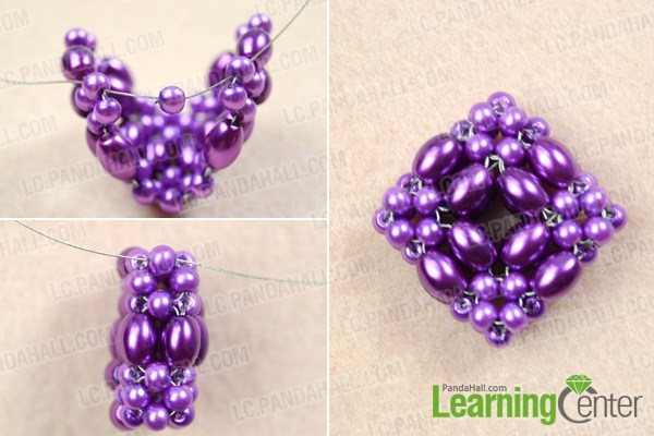 Finish 3D beaded pendant pattern