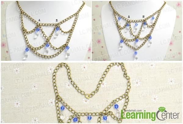 finish making the gothic necklace