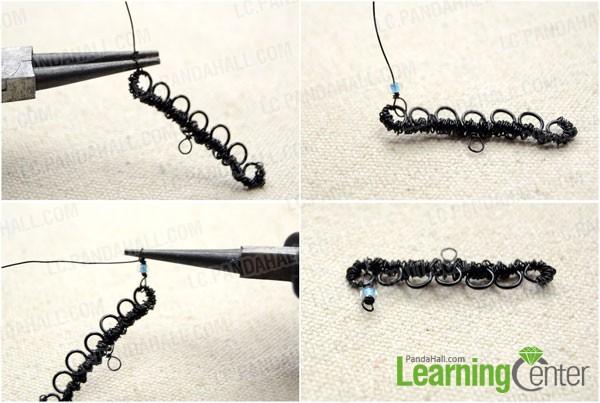 make a wrapped bead link
