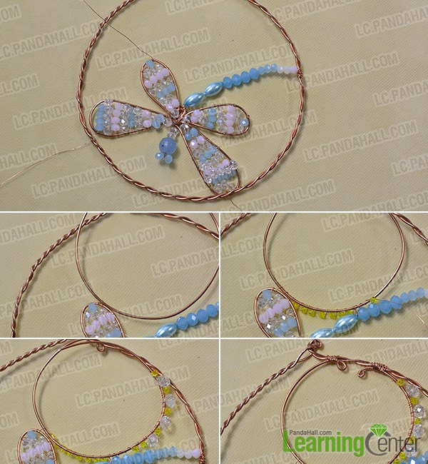 make the second part of the beaded dragonfly hanging ornament