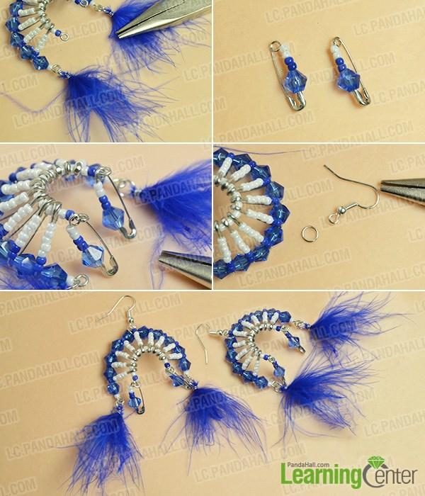 Finish the tribal style chandelier earrings