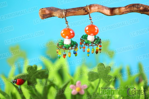 finishe mushrooms earrings