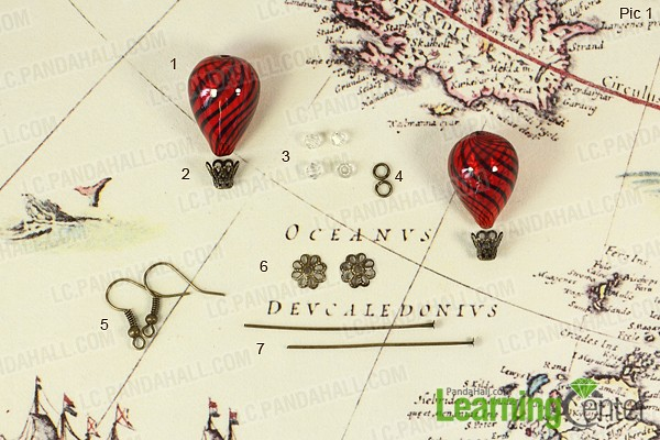 Material for making hot air balloon earrings