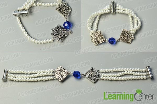 Finish the 3-strand bracelet