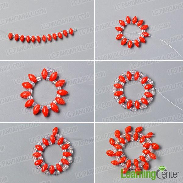 make the first part of the bling beaded slave bracelet