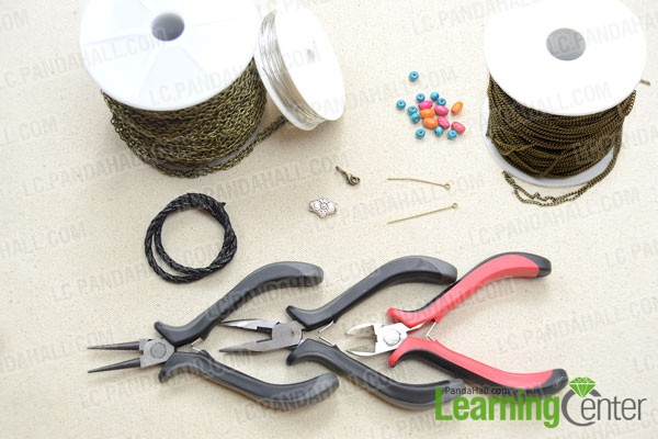 Supplies needed for making the cool leather bracelets