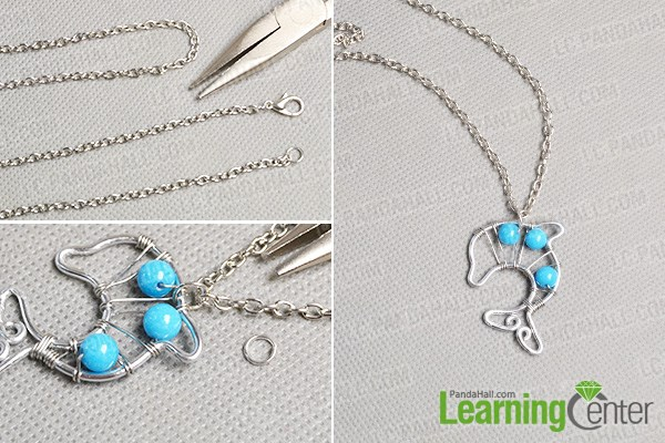Finish the dolphin pendant necklace