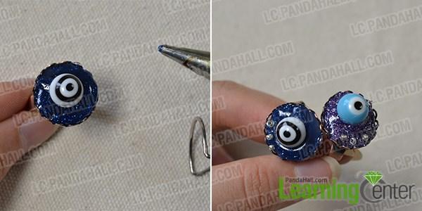 Add the eye ball beads