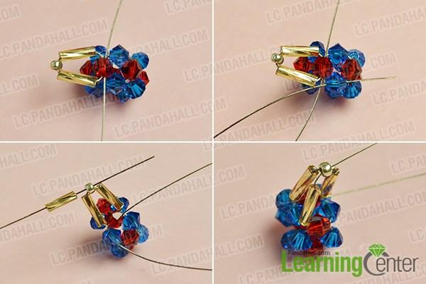 Add bugle beads to make the star