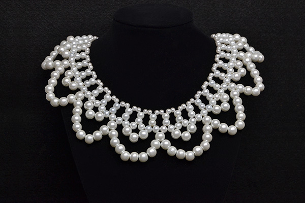 final look of this beautiful pearl bead choker necklace
