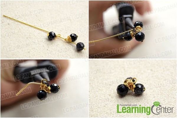 make new unit with one bead and two dangles