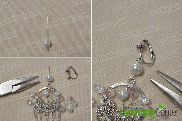 Step 2: Make the upper part of the earrings