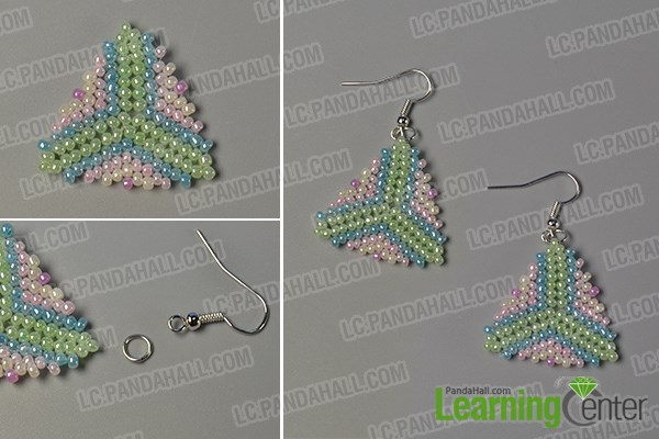 Step 10: Finish the beading triangle earrings