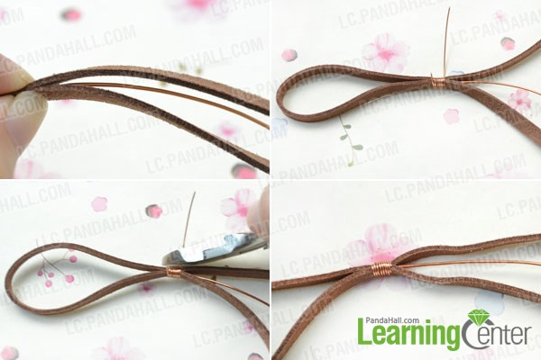 Make suede cord bracelet