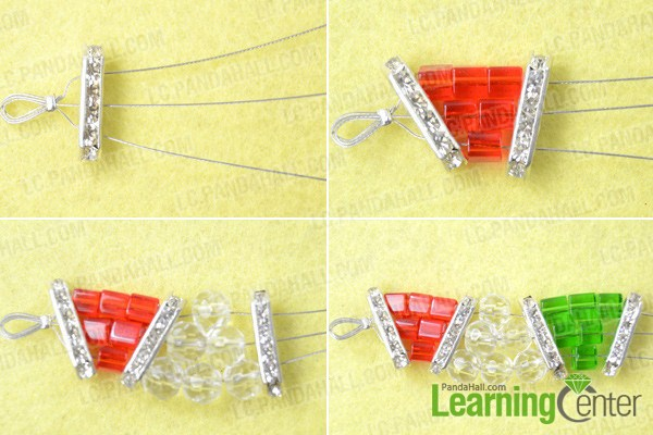 Instruction on three strand bracelet patterns