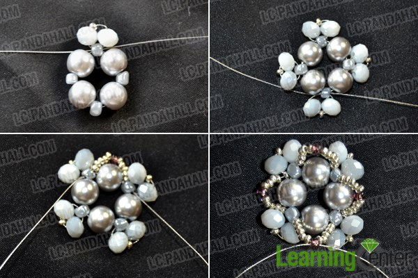 How to Make Bead Wedding Pearl Jewelry Sets With Seed Beads by Your Own Hands 2