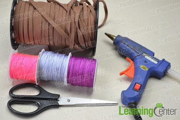 Necessities for nylon wrapped friendship bracelet: