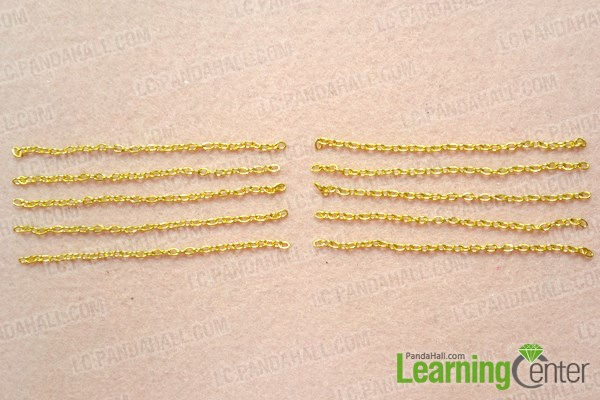 Make long tassels for the chain earrings