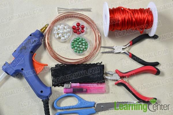 materias needed in DIY the red ethnic bracelet