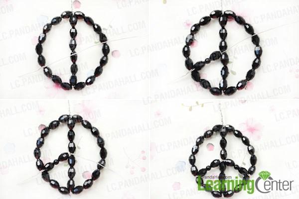 Make Peace Sign For The Black Beaded Hoop Earrings