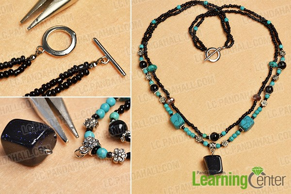 Complete the gemstone pendant necklace