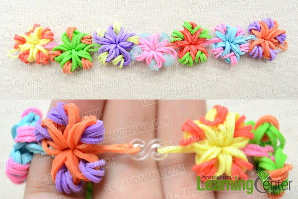 Flower loom bracelet instructions