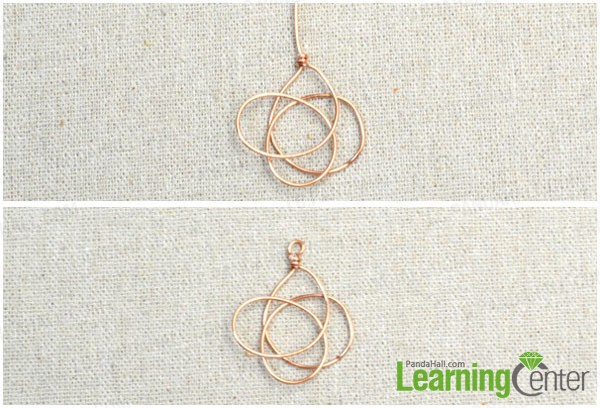 make wire wrapped loops of celtic knot earring
