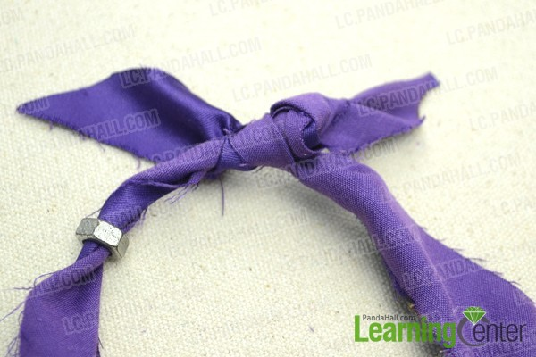 tie the two ends in a knot