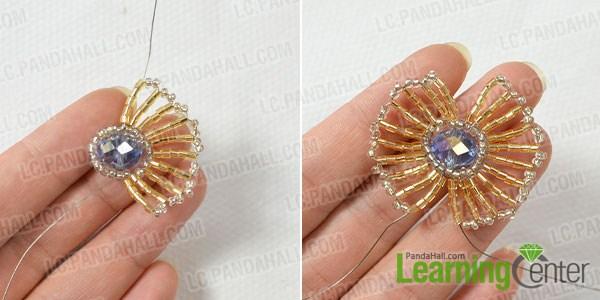 make the rest part of the tube bead flower
