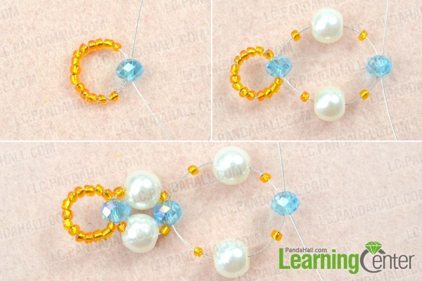 Instruction on how to make a double strand bracelet