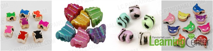 Animal shaped acrylic European beads