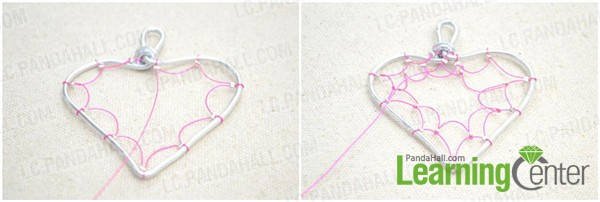 make wire net against heart frame