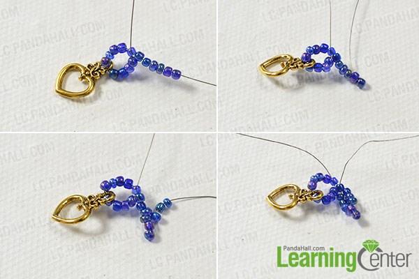 Make the seed bead tassel pattern