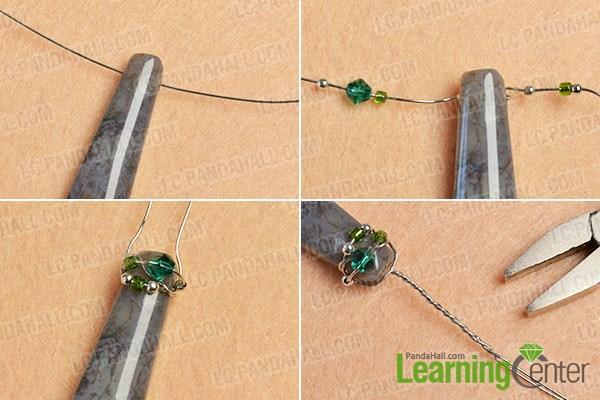 make the basic part of the bullet gemstone bead earrings