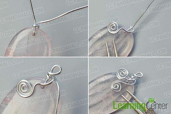 make a wire wrapped quartz pendant