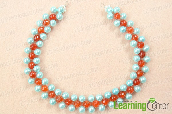 DIY pearl beads necklace design