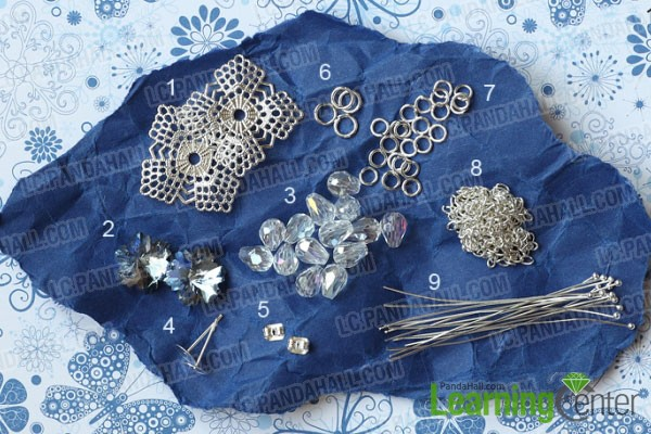 materials for making crystal dangle earrings